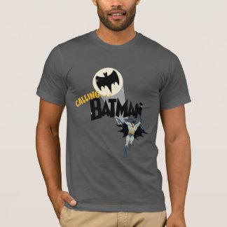 Llamando a Batman gráfico Playera