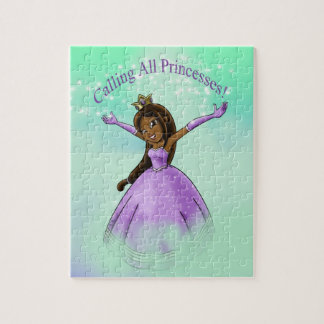 """Llamando a todas las princesas"" rompecabezas"