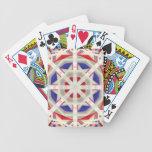 Llamarada abstracta barajas de cartas