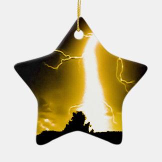 llamarada amarilla ornamento de navidad