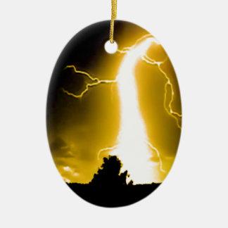 llamarada amarilla ornamento para arbol de navidad
