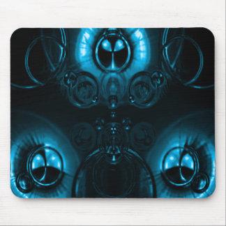 Llamarada azul clara de la lente alfombrillas de raton