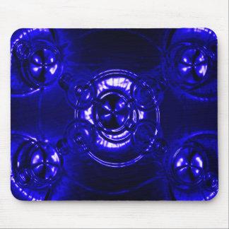 Llamarada azul de la lente alfombrillas de ratones
