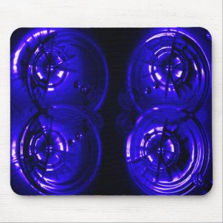 Llamarada azul de la lente tapetes de ratones