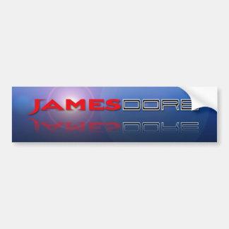 Llamarada azul del lense del logotipo de James Dor Pegatina Para Auto