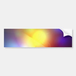 Llamarada coloreada arco iris de la lente etiqueta de parachoque