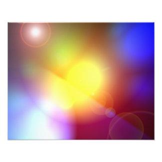 Llamarada coloreada arco iris de la lente arte con fotos
