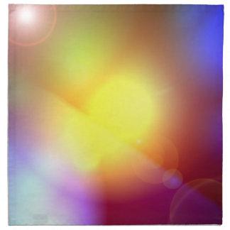 Llamarada coloreada arco iris de la lente servilletas de papel