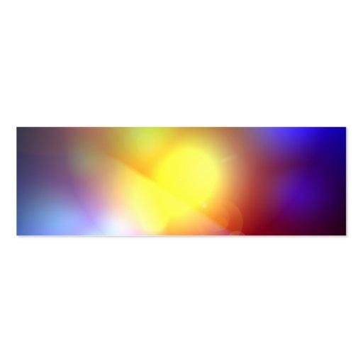 Llamarada coloreada arco iris de la lente tarjeta de negocio