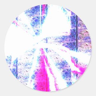 Llamarada cúbica pegatina redonda
