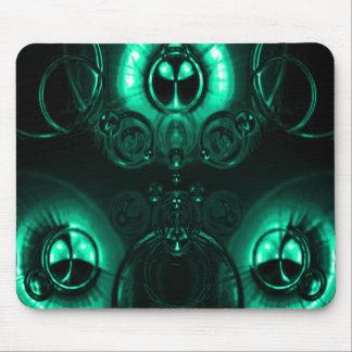 Llamarada de la lente del verde azul alfombrilla de raton