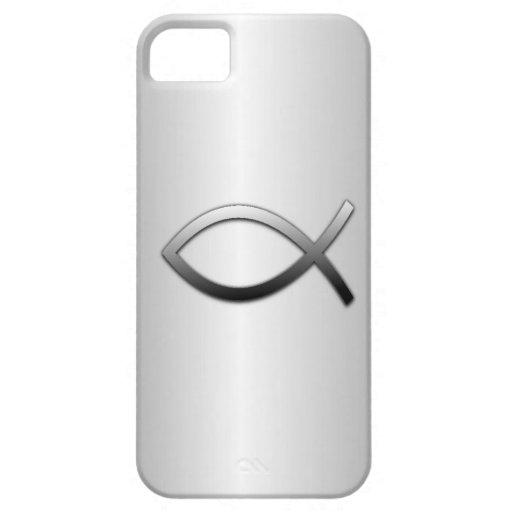 Llamarada de la plata de los pescados de Ichthys J iPhone 5 Carcasas