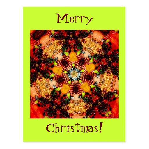 Llamarada de las Felices Navidad Tarjeta Postal