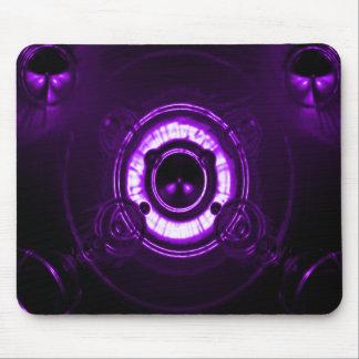Llamarada púrpura de la lente tapetes de ratón
