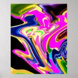 Llamarada rosada de la energía - modelo curativo r poster