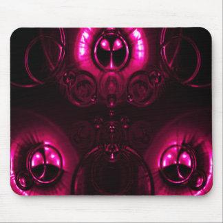 Llamarada rosada de la lente tapetes de raton