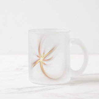 Llamarada solar abstracta taza de café