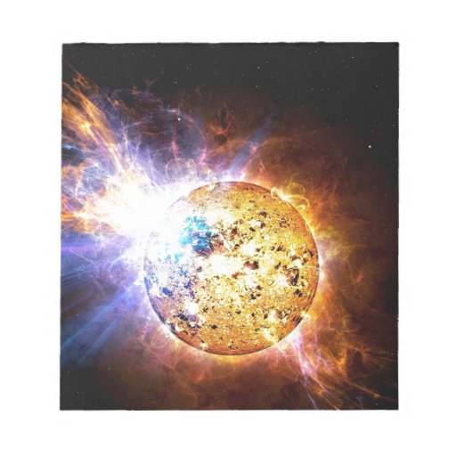 Llamarada solar bloc de notas