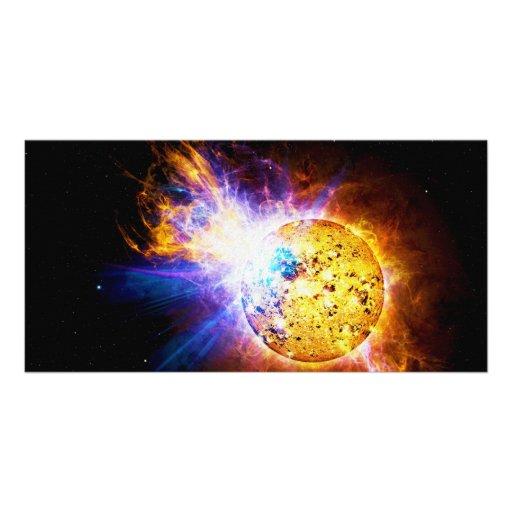 Llamarada solar de la laca de la estrella EV Lacer Tarjeta Fotografica