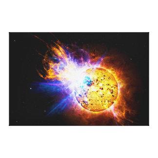 Llamarada solar de la laca de la estrella EV Lienzo Envuelto Para Galerías