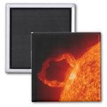 Llamarada solar imán cuadrado