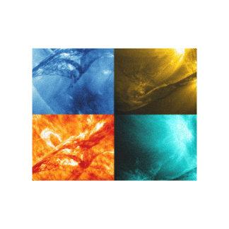 Llamarada solar o collage total de Sun de la eyecc Impresion En Lona