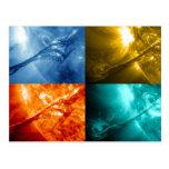 Llamarada solar o collage total de Sun de la Postal