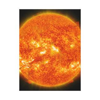 Llamarada solar o eyección total de la guirnalda e lona envuelta para galerias