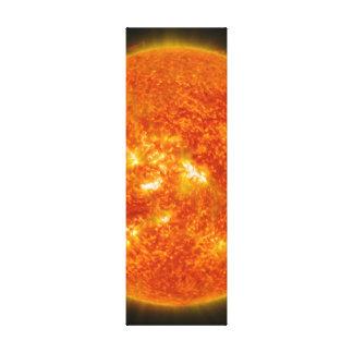 Llamarada solar o eyección total de la guirnalda e lona envuelta para galerías