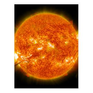 Llamarada solar o eyección total de la guirnalda e postales