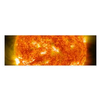 Llamarada solar o eyección total de la guirnalda tarjetas de visita mini