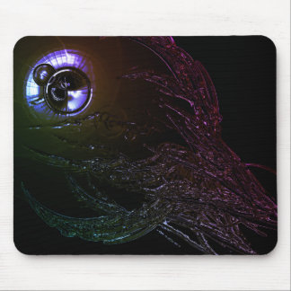 Llamarada tricolora de la lente alfombrillas de raton