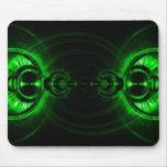 Llamarada verde de la lente del remolino tapetes de raton