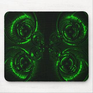Llamarada verde de la lente alfombrillas de ratones