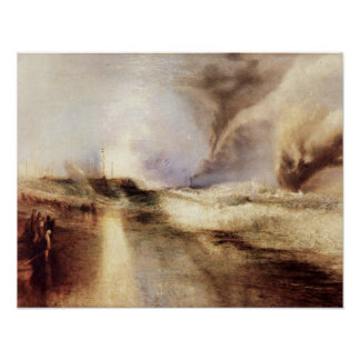 Llamaradas en los mares agitados de José Guillermo Póster