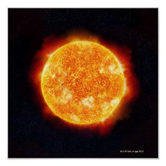 Llamaradas solares poster
