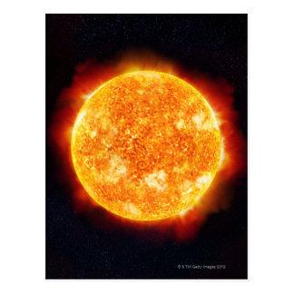 Llamaradas solares postal