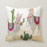 Llamarama Collection | Cute Lllamas Throw Pillow