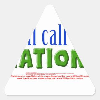 Llamaré las naciones - 55:5 de Isaías Pegatina Triangular