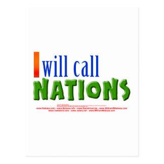 Llamaré las naciones - 55:5 de Isaías Postal
