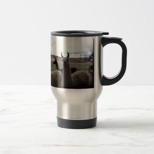 Llamas 15 Oz Stainless Steel Travel Mug
