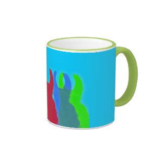 Llamas 5 in Bright Graphic Llama Colors Coffee Mugs