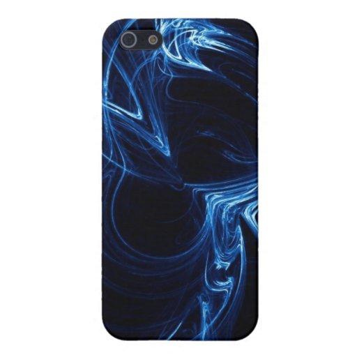 Llamas abstractas azules iPhone 5 protectores