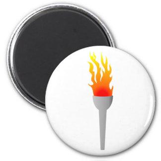 Llamas antorcha de flames torch imán redondo 5 cm