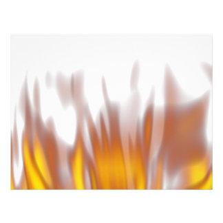 Llamas ardientes ardientes calientes flyer personalizado