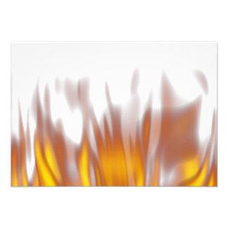 Llamas ardientes ardientes calientes comunicados personalizados