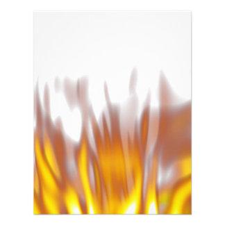 Llamas ardientes ardientes calientes invitacion personal