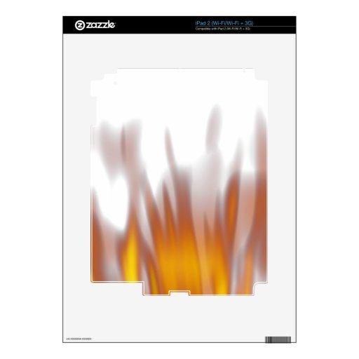 Llamas ardientes ardientes calientes iPad 2 calcomanía