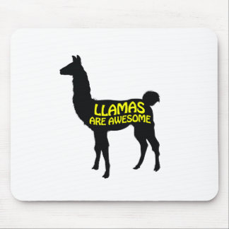 Llamas are awesome! mouse pad