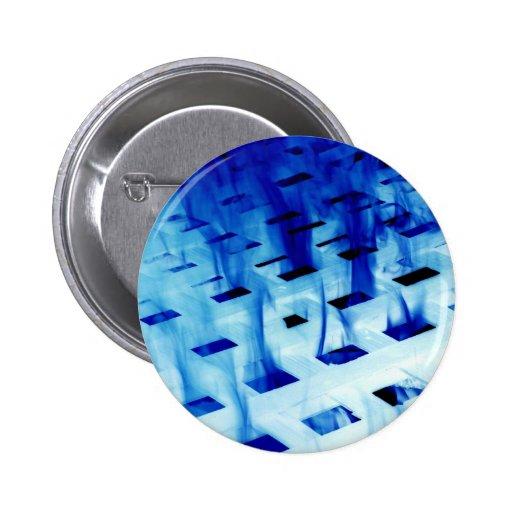 Llamas azules a través de la foto blanca del diseñ pins